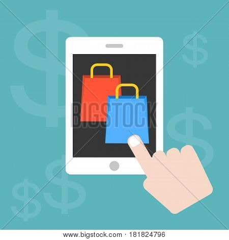 Vector set of concept for marketing and shopping online in e commerce