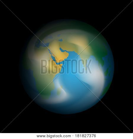 Vector planet Earth on a black background