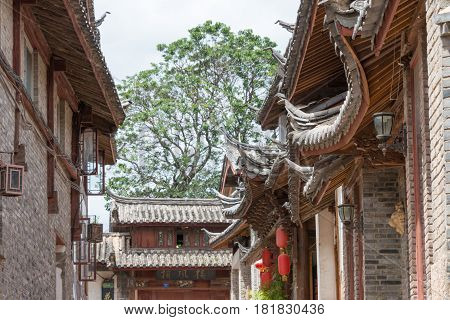 Lijiang, China - Sep 5 2014: Old Town Of Lijiang(unesco World Heritage Site). A Famous Landmark In L