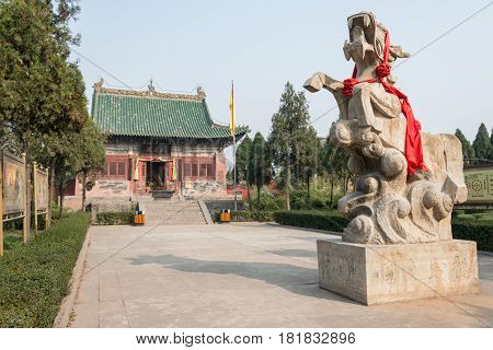 Henan, China - Nov 21 2014: Longma Futu Temple. A Famous Historic Site In Luoyang, Henan, China.