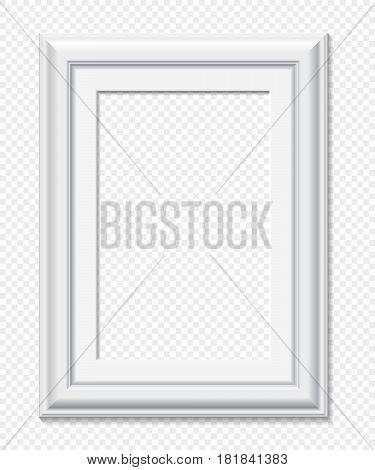 Vertical Rectangular White Frame, Vector