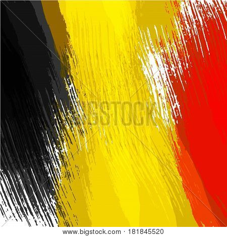 Grunge background in colors of belgian flag