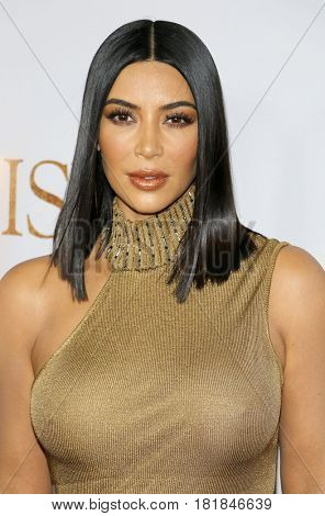 Kim Kardashian West at the Los Angeles premiere of 'The Promise' held at the TCL Chinese Theatre in Hollywood, USA on April 12, 2017.