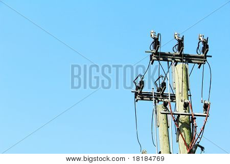 power lines hanging from pole