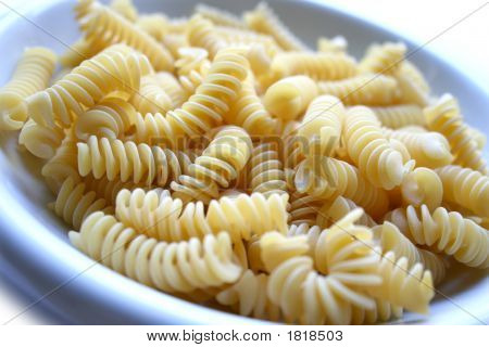 Dish Of Pasta Fusilli