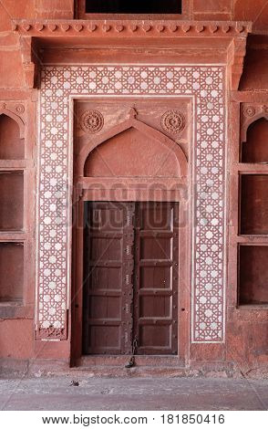 FATEHPUR SIKRI, INDIA - FEBRUARY 15: Historical city constructed by Mughal emperor Akbar in Fatehpur Sikri, Uttar Pradesh, India on February 15, 2016.