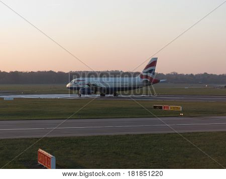 British Airways Airbus A319 Ready For Take Off