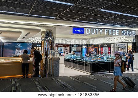 Duty Free Shop In Don Muang International Airport. Departure Hall