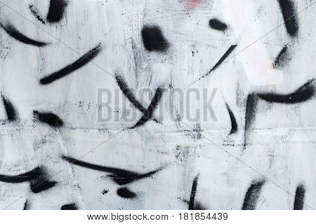 texture paint smear black and white on the wall