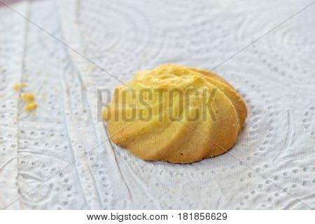 Fresh american cookies. chocolate cookies on white background.