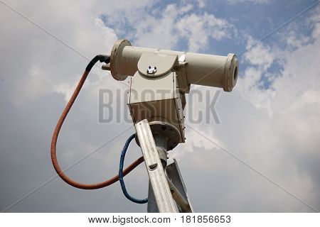 Close Up Shot Of An Explosion Proof Security Camera