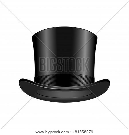 Gentleman fashion hat modern elegance black cap element and garment textile accessories top classic clothes vector illustration. Personal design style headdress clothing.