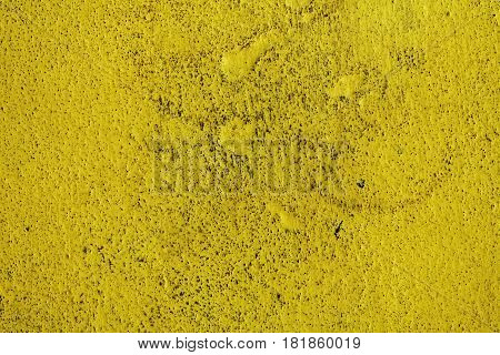 Stucco yellow wall background or texture. Plaster, plaster texture, plaster background. Yellow wall, yellow background. Color plaster.