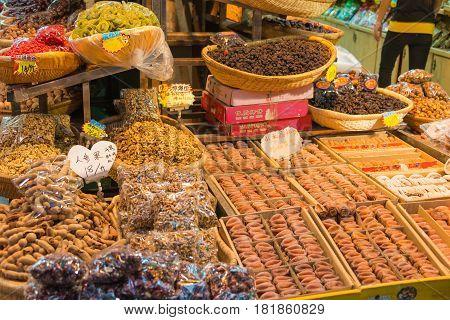Xian, China - Oct 20 2014: Muslim Street In Xian. Hui People Are A Muslim Ethnic Minority In Xian.
