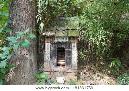 Xian, China - Oct 26 2014: Tomb Of The Living Dead At The Chengdao Palace. A Famous Temple In Xian,
