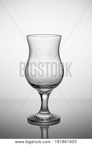 Empty Hurricane Glass For Tropical Cocktail