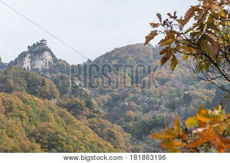 Xian, China - Nov 11 2014: South Mount Wutai(nanwutai). A Famous Landscape In Xian, Shaanxi, China.