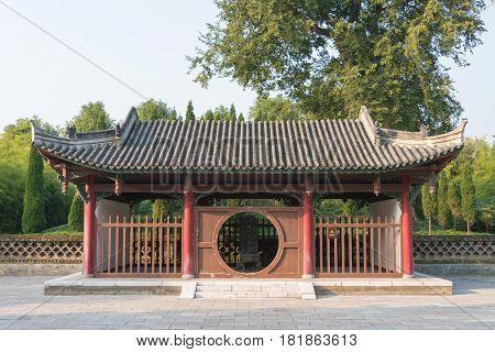 Shaanxi, China - Nov 3 2014: Ma Chao Tomb, Mianxian County, Shaanxi, China. Ma Chao(176–222) Was A M