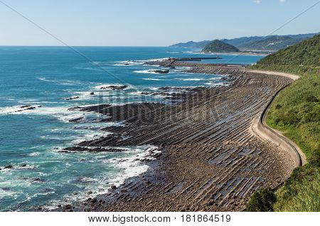Nichinan Coastline From Phoenix, Viewpoint In Miyazaki, Kyushu, Japan