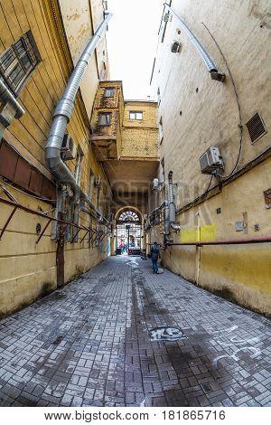Old Dark Gateway. Saint-petersburg, Russia
