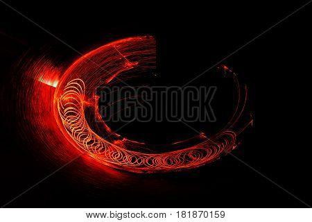 Fire dancing show Fireball show amazing at night