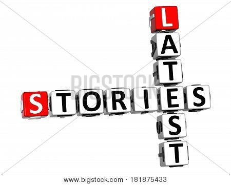 3D Stories Latest Crossword On White Background