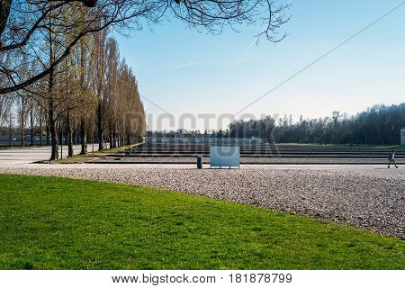 Dachau Camp, The First Concentration Camp In Germany During World War Ii, Historic Buildings And Out