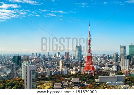 Tokyo Tower, Japan -  Tokyo City Skyline And Cityscape