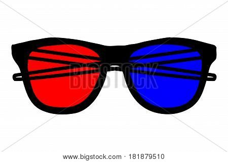 3d glasses icon vector illustration , glasses ,