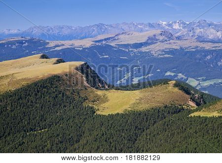 Mountain landscape on a sunny day, Dolomite Alps, Italy
