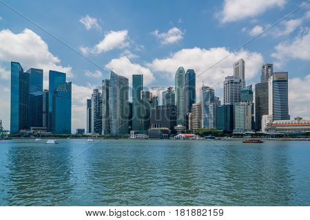 Singapore Financial District In The Central Area