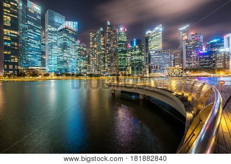 Office Buildings, Skyscrapers In Singapore Central Area