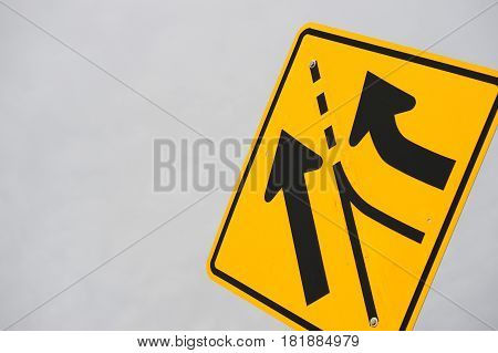 merge traffic sign against sky background for design