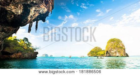 Phra Nang Beach at Railay near Ao Nang Krabi on Andaman Sea Thailand