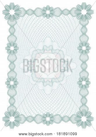 Guilloche Certificate or diploma template, background, modern isolated design. Vector illustration.