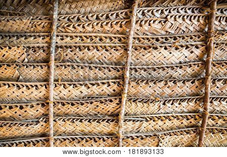 Natural wicker fence or wall, Ceylon