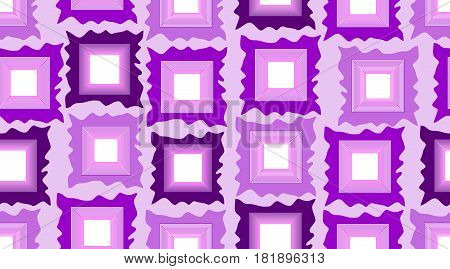 Seamless modern background in purple with gritty rectangles