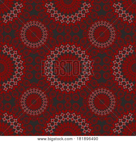 Fine seamless vintage patterns in red and black design