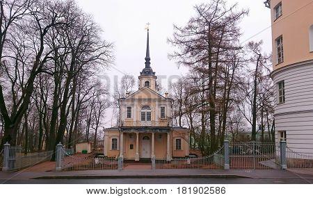 April evening and Znamenskaya Church in Tsarskoye Selo