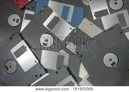Floppy Disks magnetic computer data storage. Floppy Disks