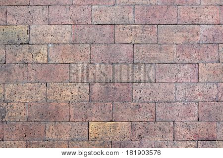 Background or texture made of red paving stone