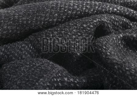 Fashionable gray cotton fabric background for fashion industry.