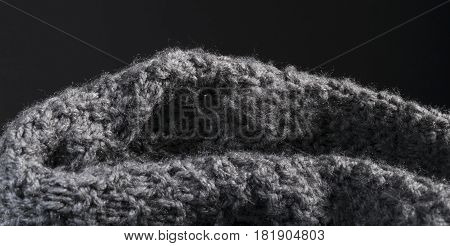 Detailed Abstract Knitted Wool Fabric Background.