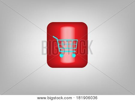 Online shop Button, web icon, Symbol Vector illustration isolated