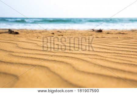 Sandy waves on Sri Lanka coast, selective focus