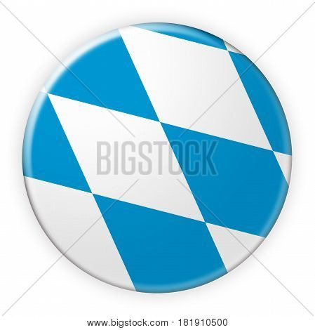 Germany Federal State Button: Bavaria Flag Badge 3d illustration on white background