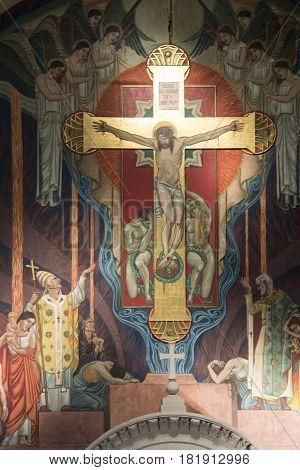 Religious Fresco In Chuch
