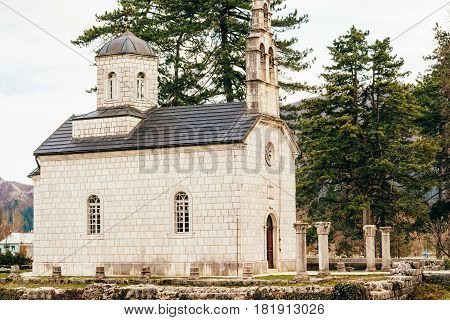 The oldest ancient building in Cetinje old town, The Vlaska Court Church, Montenegro.