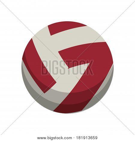volleyball ball sport equipment vector illustration eps 10