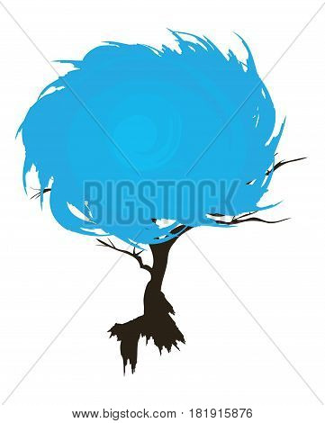 vector illustration of an abstract grunge tree